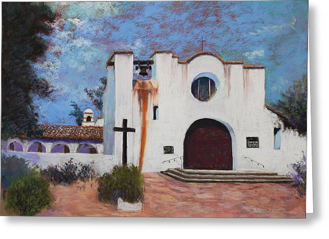 Greeting Card featuring the painting Soul Retreat by M Diane Bonaparte