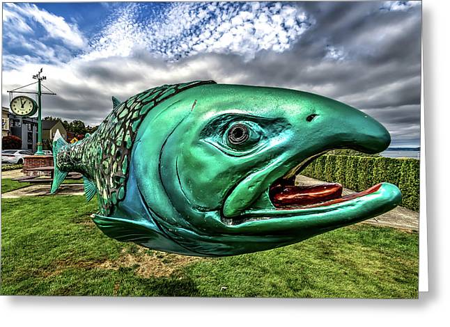 Soul Salmon In Hdr Greeting Card