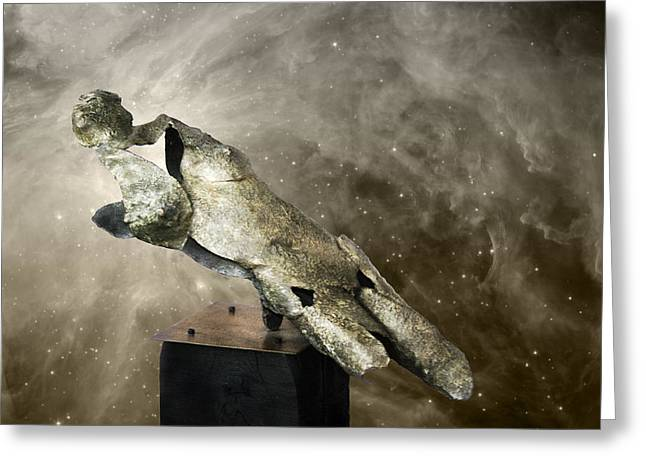 Human Figure Sculptures Sculptures Greeting Cards - Soul Shard of the Akashic Record Greeting Card by Ede Ericson Cardell