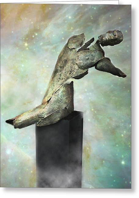 Human Figure Sculptures Sculptures Greeting Cards - Soul Shard Shadow Greeting Card by Ede Ericson Cardell