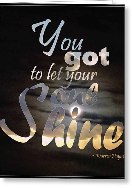Soul Shine Greeting Card