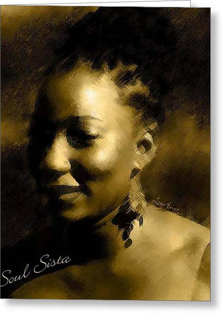 Soul Sista Greeting Card by LeeAnn Alexander