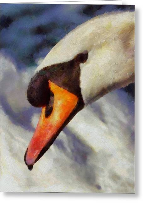Soul Swan By Pierre Blanchard Greeting Card