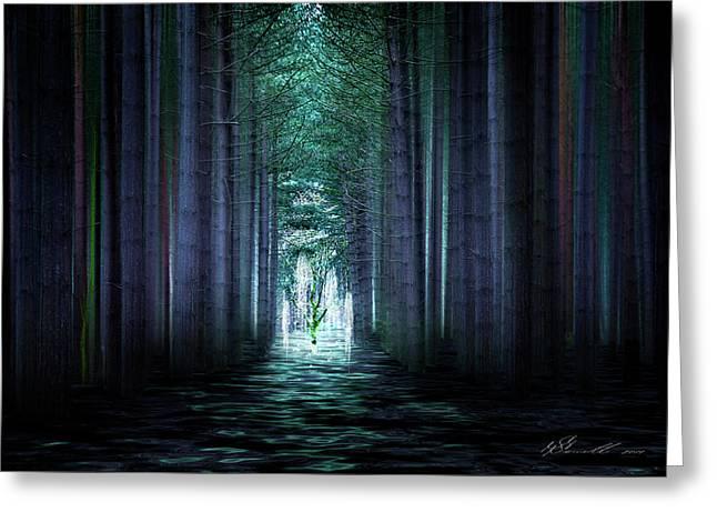 Fantasy Tree Mixed Media Greeting Cards - Soul Tree Greeting Card by Svetlana Sewell