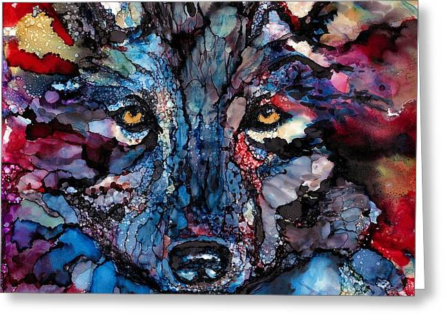 Soulful Wolf Greeting Card