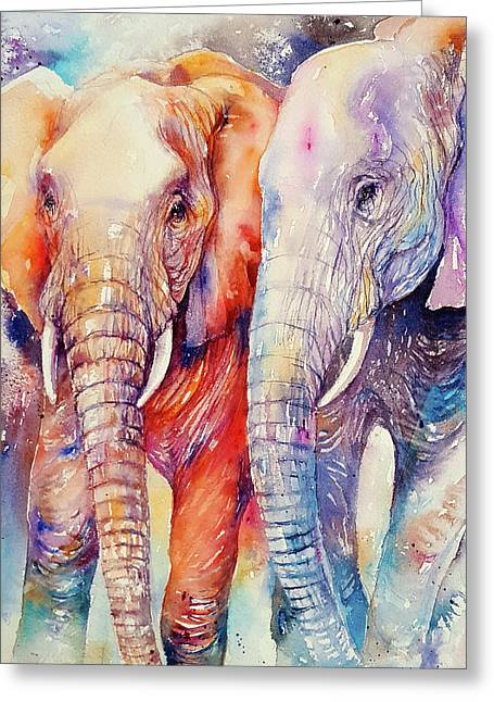 Soulmates Forever Greeting Card by Arti Chauhan