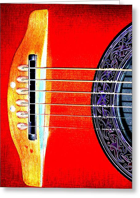 Sound Hole Greeting Card by Peter  McIntosh