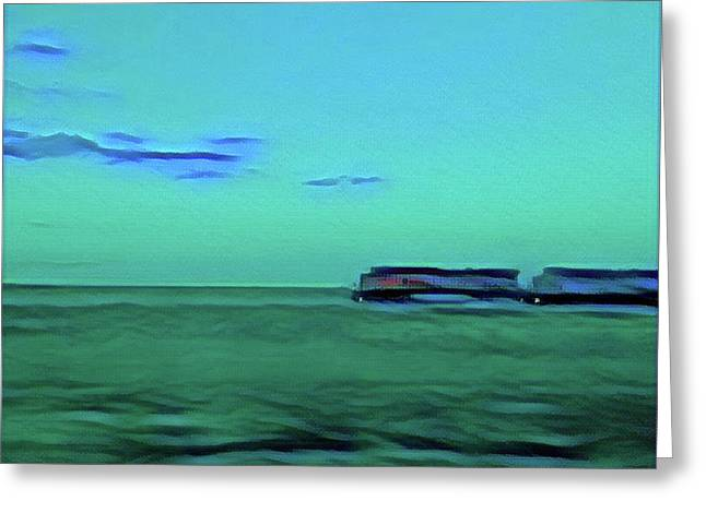 Sound Of A Train In The Distance Greeting Card