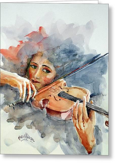 Sound Of Violin... Greeting Card