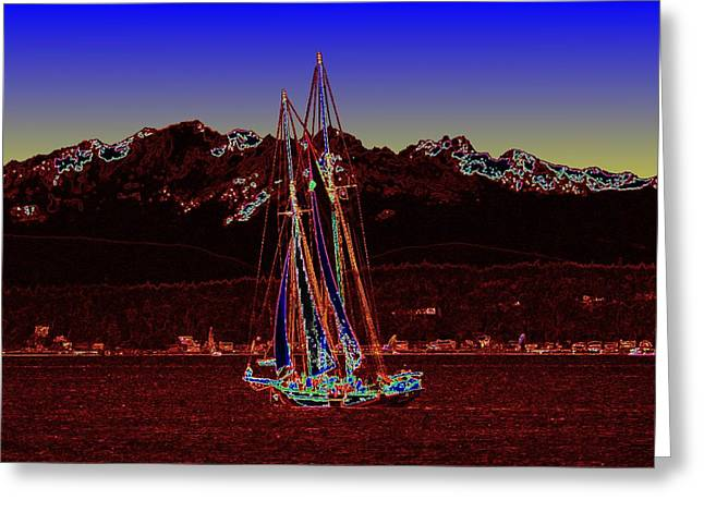 Sound Sailin 4 Greeting Card