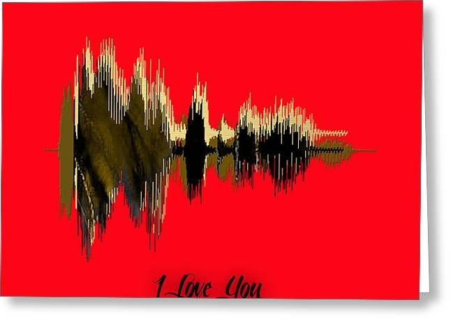 Sound Wave I Love You Greeting Card by Marvin Blaine