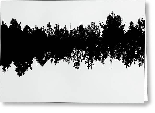Sound Waves Made Of Trees Reflected Greeting Card