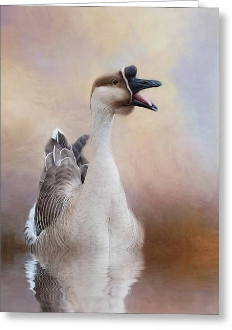 Greeting Card featuring the photograph Sounder by Robin-Lee Vieira
