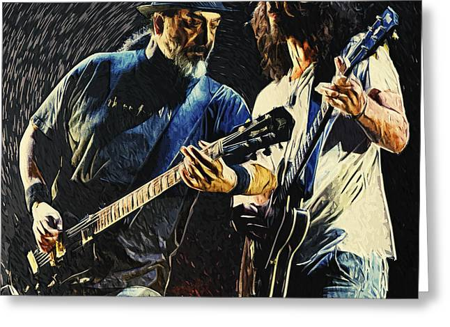 Soundgarden Greeting Card by Taylan Apukovska