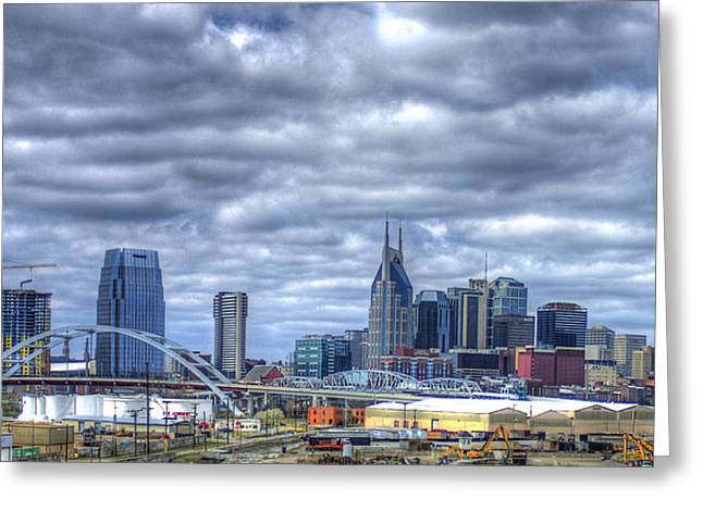 Sounds Like Country Music Nashville Tennessee Music City Art Greeting Card by Reid Callaway