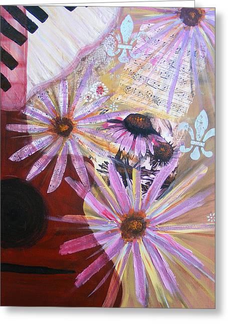 Sounds Like Flowers Greeting Card by Christina Fajardo