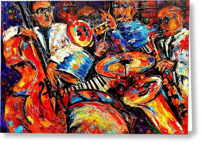 Sounds Of Jazz Greeting Card