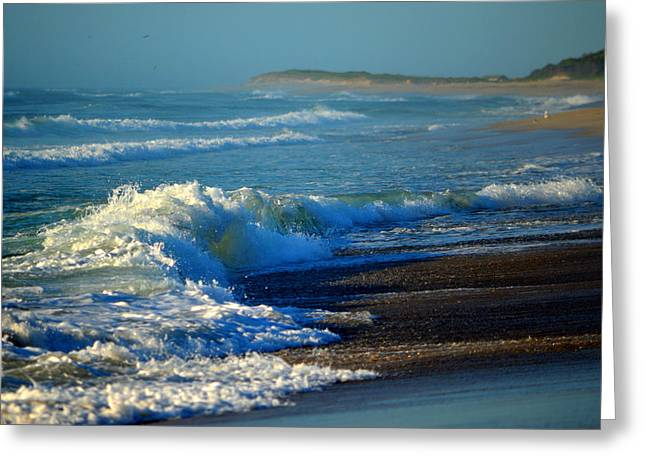 Sounds Of The Surf Greeting Card by Dianne Cowen