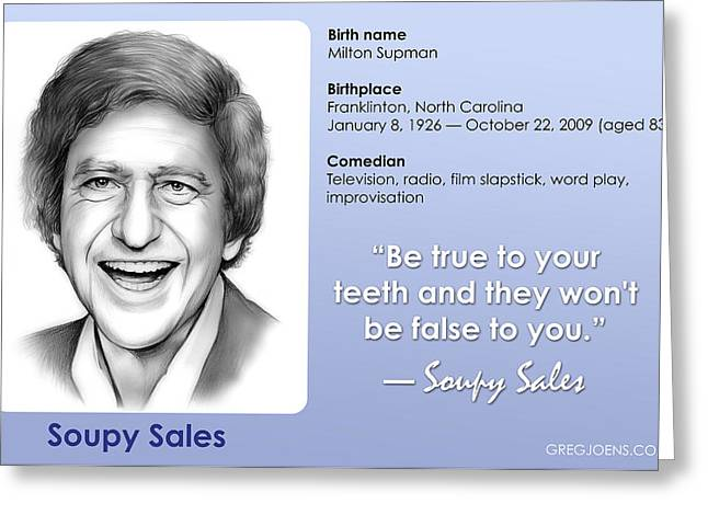 Soupy Quote Greeting Card