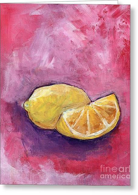 Sour Lemons Greeting Card