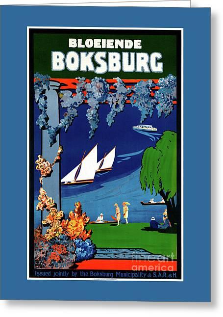 South Africa Boksburg Vintage Travel Poster Greeting Card by Carsten Reisinger