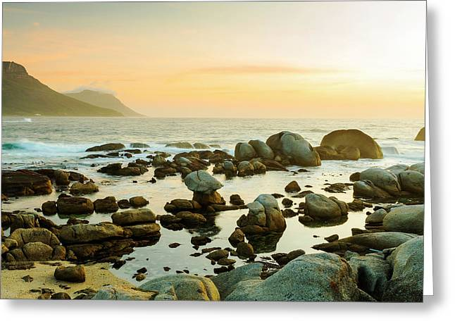 South African Ocean Sunset Greeting Card by Tim Hester