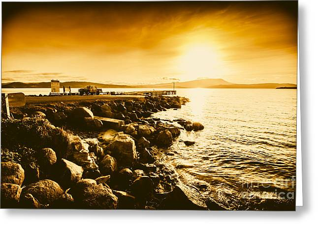 South Arm Sunset Greeting Card by Jorgo Photography - Wall Art Gallery