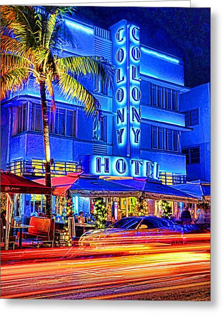 South Beach Art Deco Greeting Card by Dennis Cox WorldViews