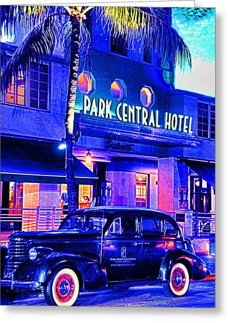 South Beach Hotel Greeting Card by Dennis Cox WorldViews
