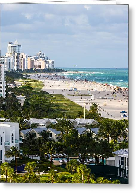 South Beach Late Afternoon Greeting Card