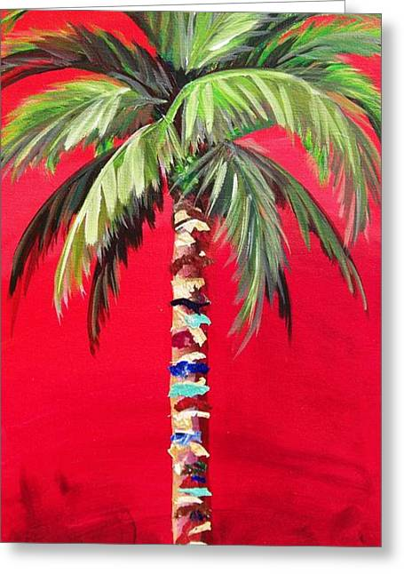 South Beach Palm II Greeting Card