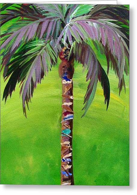 South Beach Palm IIi Greeting Card