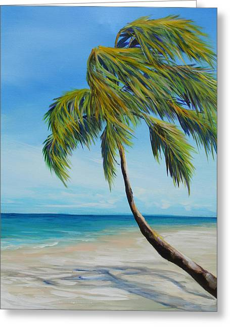 South Beach Palm Greeting Card by Michele Hollister - for Nancy Asbell