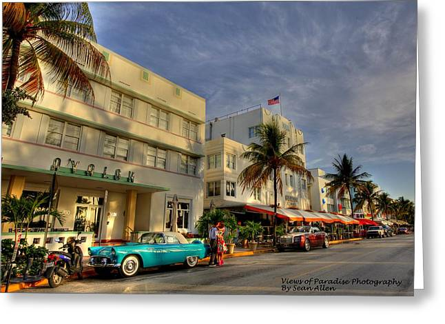 South Beach Park Central Hotel Greeting Card