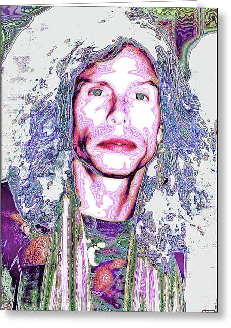 South Beach Poparazzi - Steven Tyler No. 1 - Surreal Celebrity Portraits Greeting Card