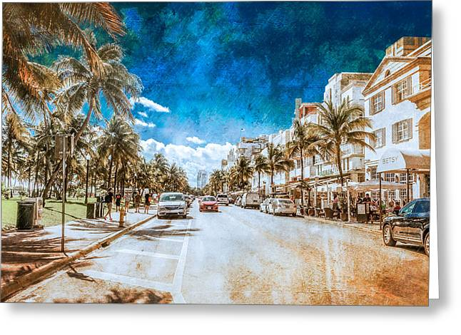 Greeting Card featuring the photograph South Beach Road by Melinda Ledsome