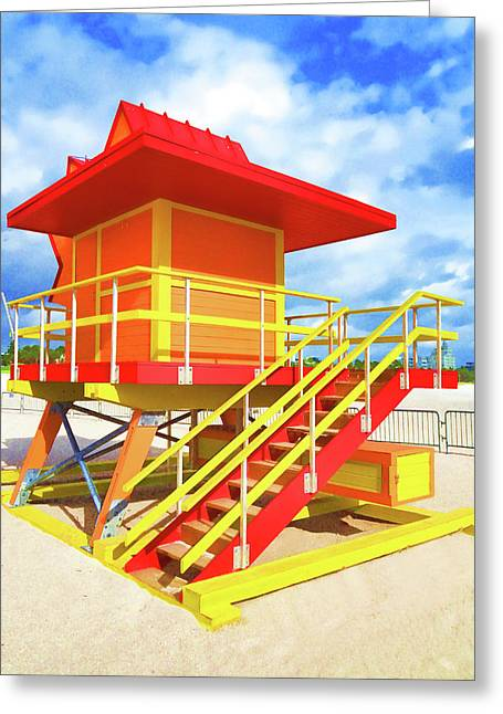 South Beach Station Greeting Card by Dennis Cox WorldViews