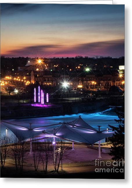 Greeting Card featuring the photograph South Bend River Sunrise by Brian Jones