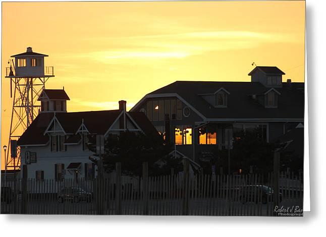 South Boardwalk Sunset Greeting Card