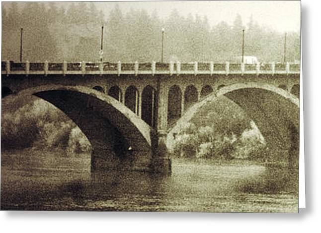 South Bridge  Greeting Card by Empty Wall