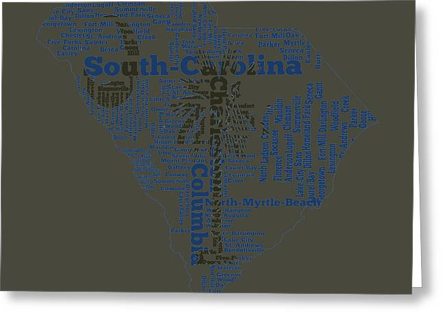 South Carolina 11b Greeting Card
