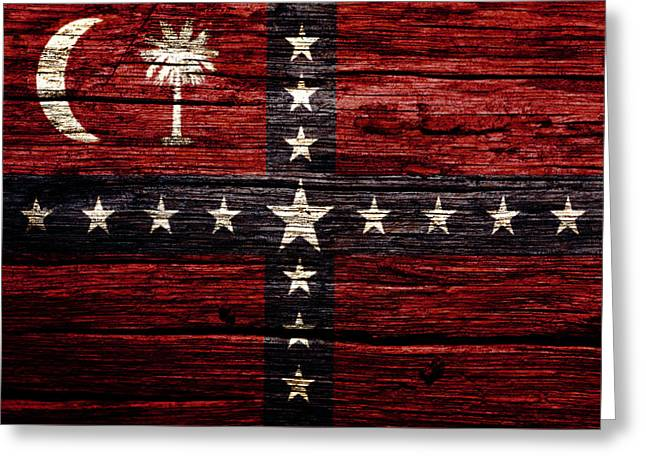 South Carolina Sovereignty Secession Flag 3w Greeting Card