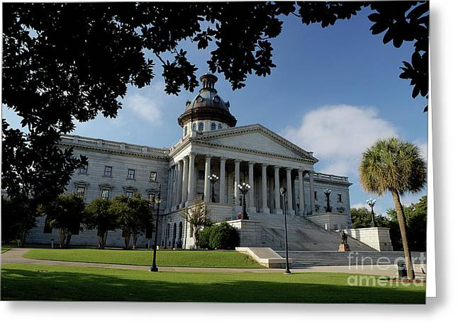 South Carolina State House 2 Greeting Card by Michael Eingle