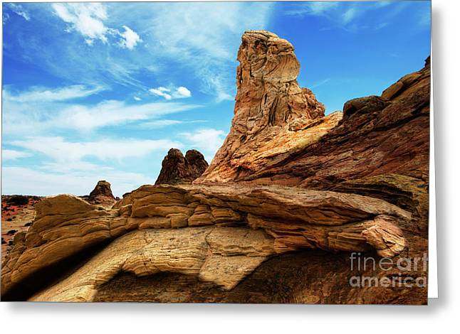 South Coyote Buttes Arizona Greeting Card by Bob Christopher