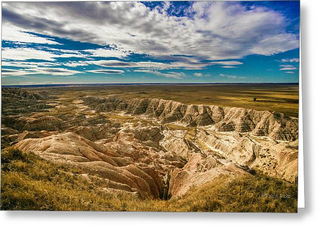 South Dakota Bad Lands.... Greeting Card
