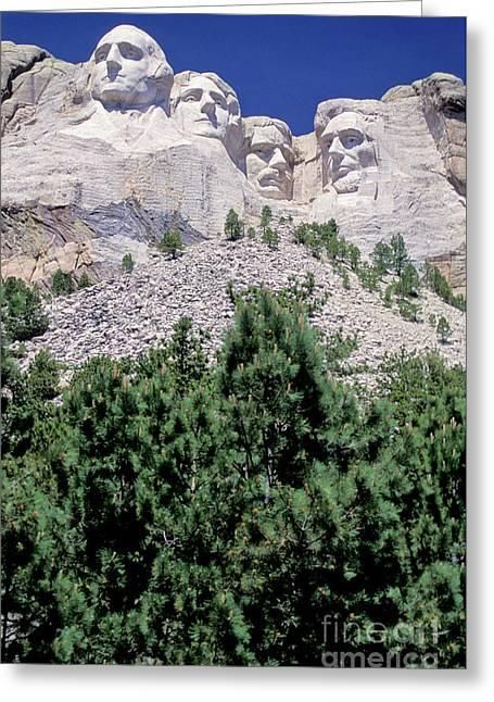 South Dakota, Keystone  Mount Rushmore Greeting Card by American School