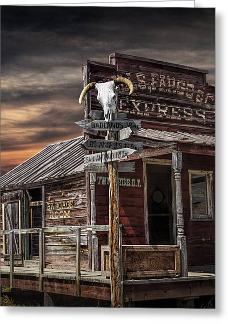 South Dakota Wells Fargo Express Office Station Greeting Card by Randall Nyhof