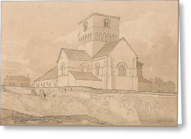 South-east View Of The Church Of Lery Greeting Card by John Sell Cotman