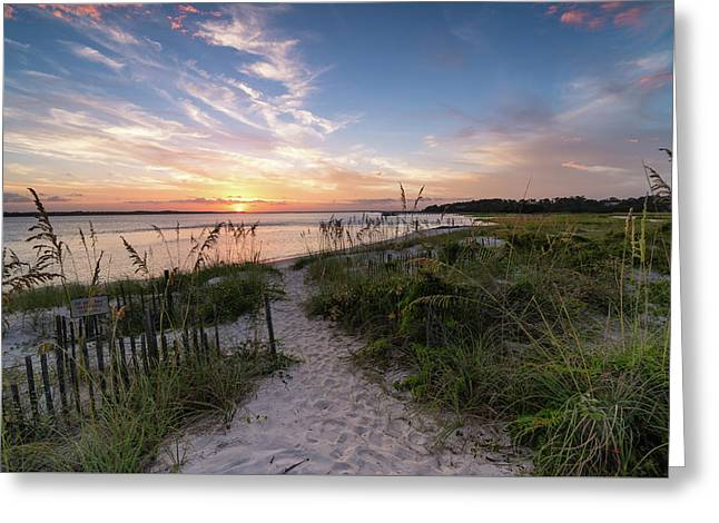 South End Sunset Greeting Card