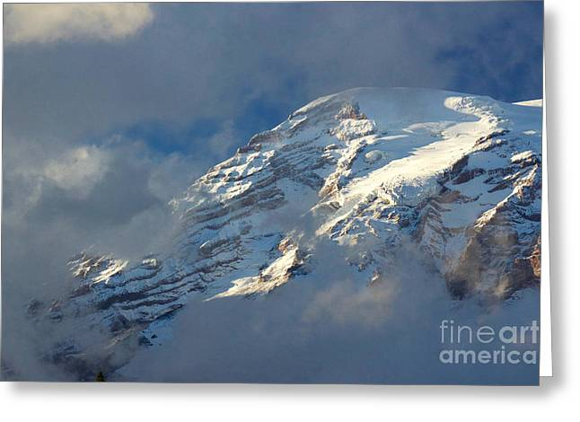 South Face - Mount Rainier Greeting Card by Sean Griffin
